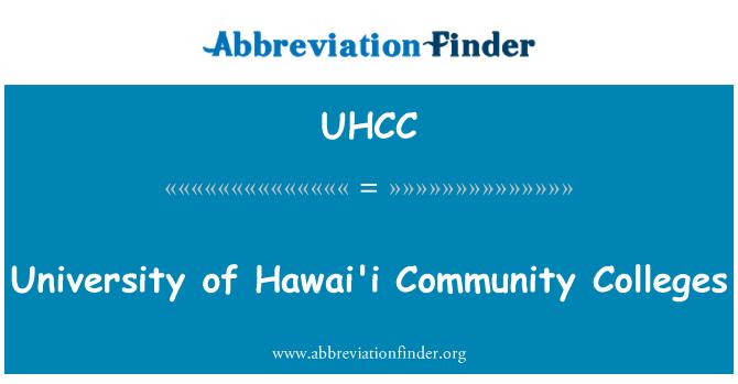 UHCC: University of Hawai'i Community Colleges
