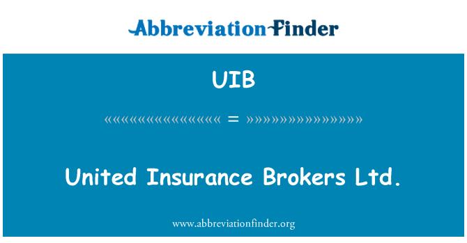UIB: United Insurance Brokers Ltd.