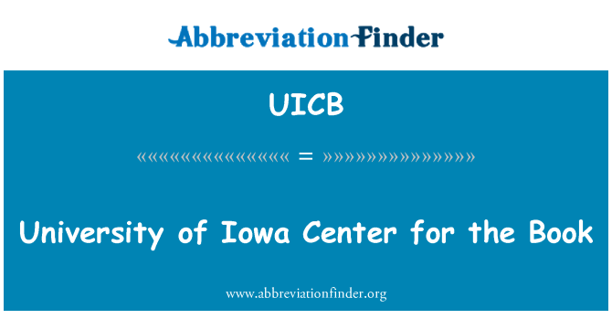 UICB: University of Iowa Center for the Book