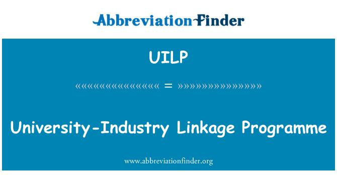 UILP: University-Industry Linkage Programme