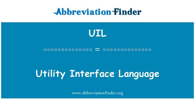 UIL: Idioma de la interfaz de utilidad