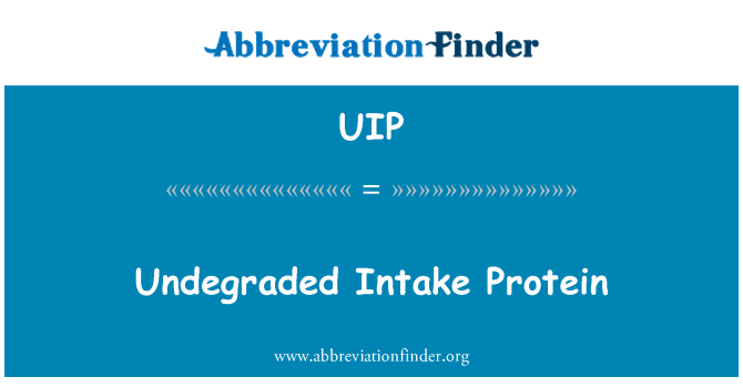UIP: Undegraded Intake Protein