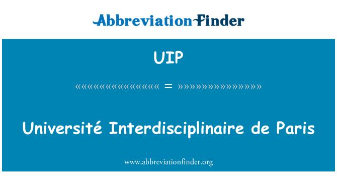 UIP: Université Interdisciplinaire de París