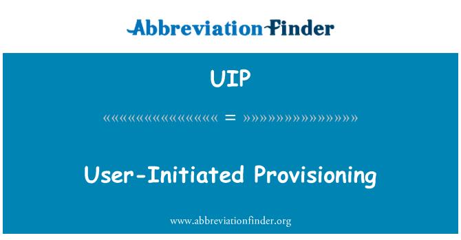 UIP: Iniciado por el usuario Provisioning
