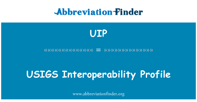 UIP: USIGS Perfil de interoperabilidad