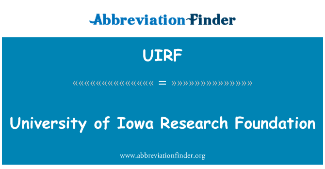 UIRF: University of Iowa Research Foundation