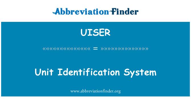 UISER: Birim tanımlama sistemi