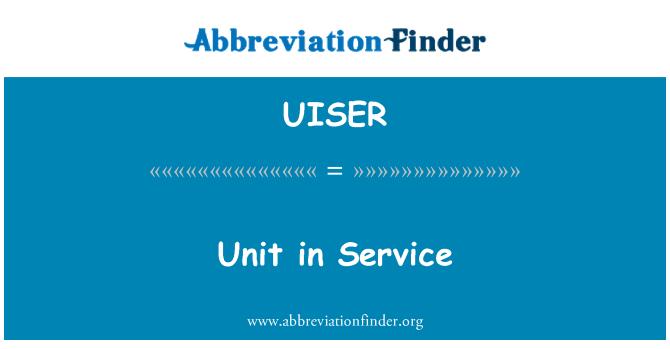 UISER: Hizmet biriminde