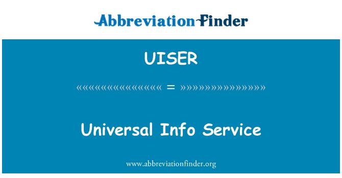 UISER: Evrensel bilgi Servisi
