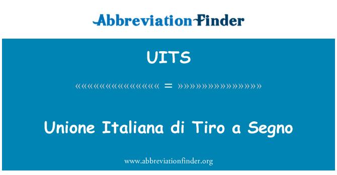 UITS: Unione 意大利迪夜曲 Segno