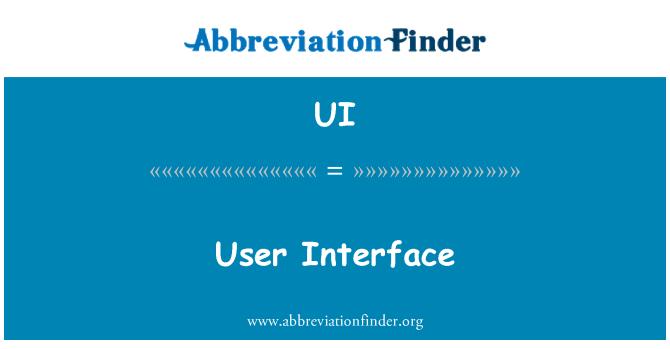 UI: Interfaz de usuario