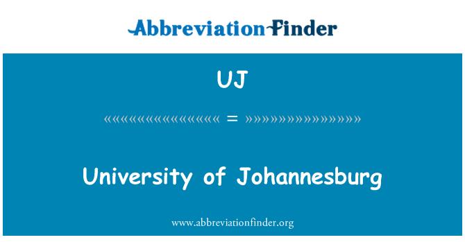 UJ: University of Johannesburg