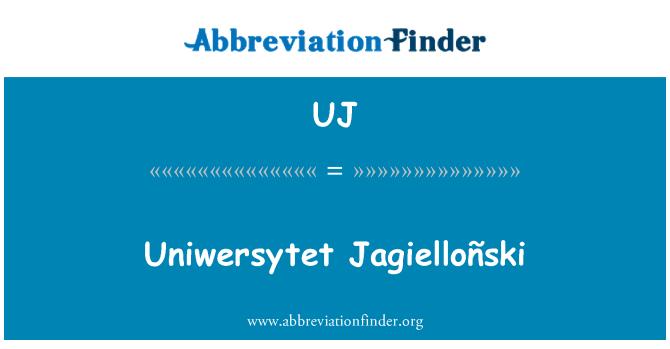 UJ: Uniwersytet Jagielloñski