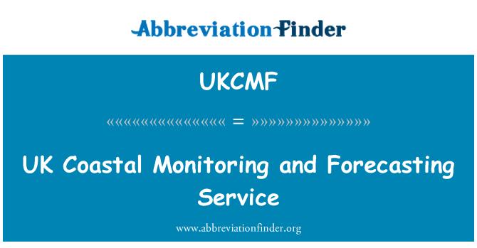 UKCMF: Vigilancia costera del Reino Unido y predicción servicio