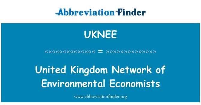 UKNEE: United Kingdom Network of Environmental Economists