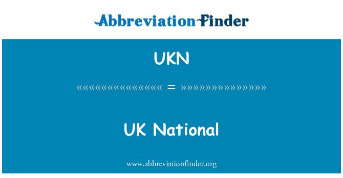 UKN: UK National