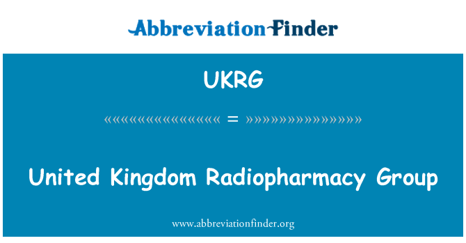 UKRG: United Kingdom Radiopharmacy Group