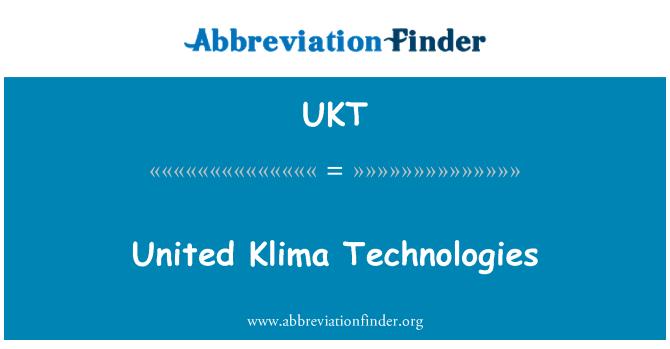 UKT: United Klima Technologies