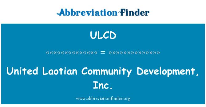 ULCD: Vương Lào cộng đồng phát triển, Inc
