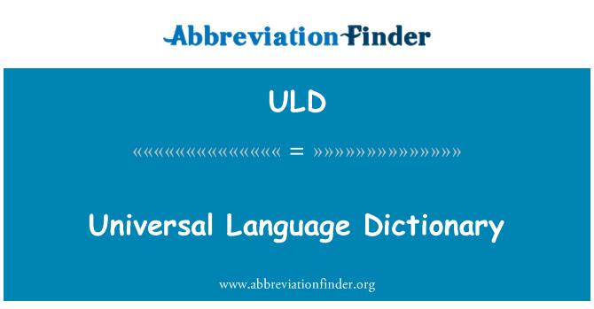 ULD: Evrensel dil sözlük