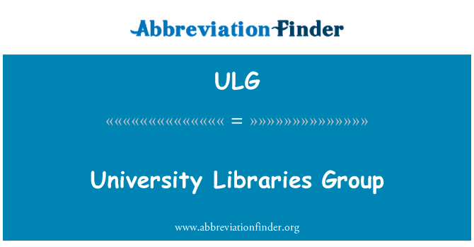 ULG: University Libraries Group