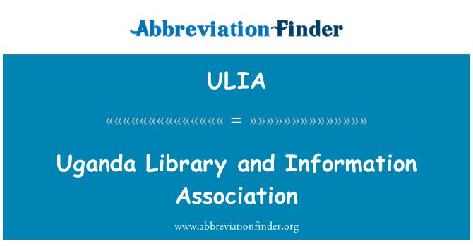 ULIA: Uganda Library and Information Association