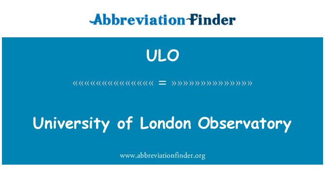 ULO: Observatorio de la Universidad de Londres