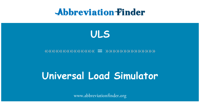 ULS: Universal Load Simulator
