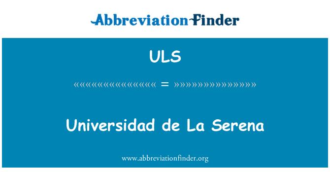 ULS: Universidad de La Serena