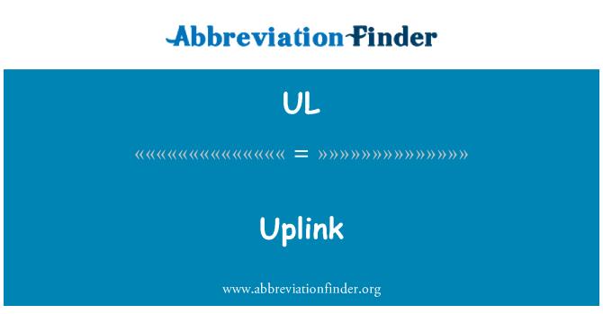 UL: Uplink
