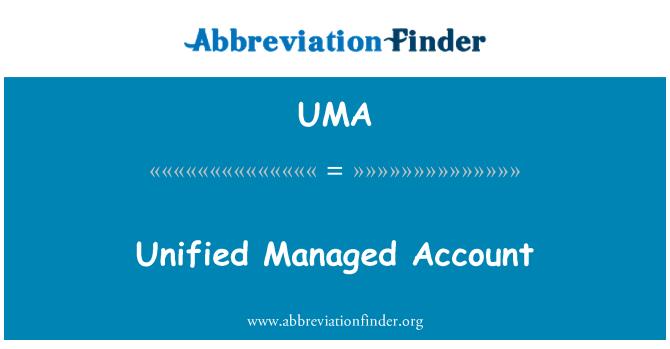 UMA: Cuenta unificada