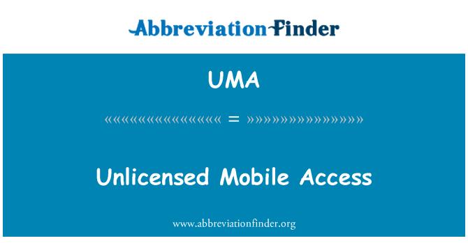 UMA: Acceso móvil sin licencia