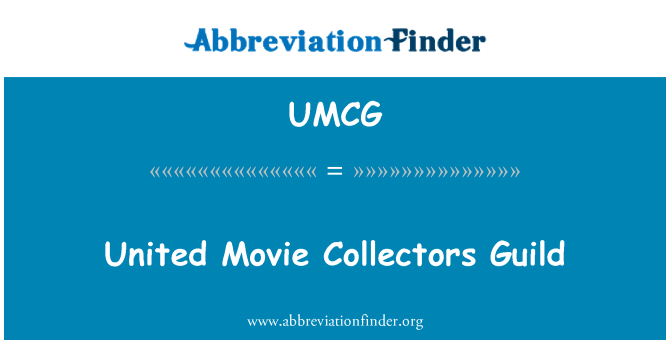 UMCG: United Movie Collectors Guild