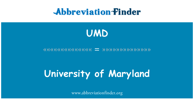 UMD: University of Maryland