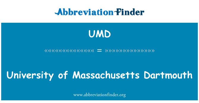 UMD: Universidad de Massachusetts Dartmouth