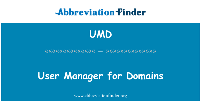UMD: User Manager for Domains