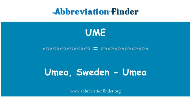 UME: Umea, Sweden - Umea