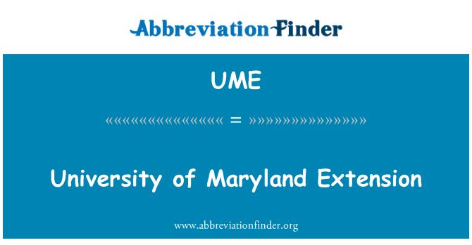 UME: University of Maryland Extension