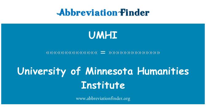 UMHI: University of Minnesota Humanities Institute