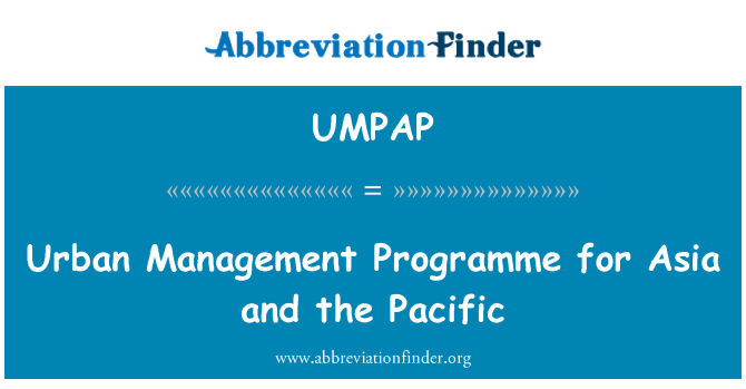 UMPAP: Urban Management Programme for Asia and the Pacific
