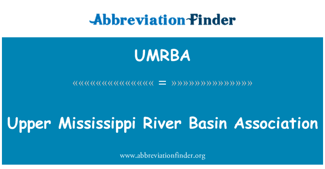UMRBA: Upper Mississippi River Basin Association