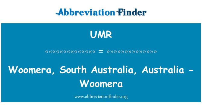 UMR: Woomera, Australia del sur, Australia - Woomera