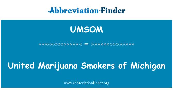 UMSOM: United Marijuana Smokers of Michigan