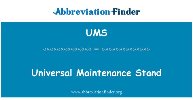 UMS: Soporte de mantenimiento universal