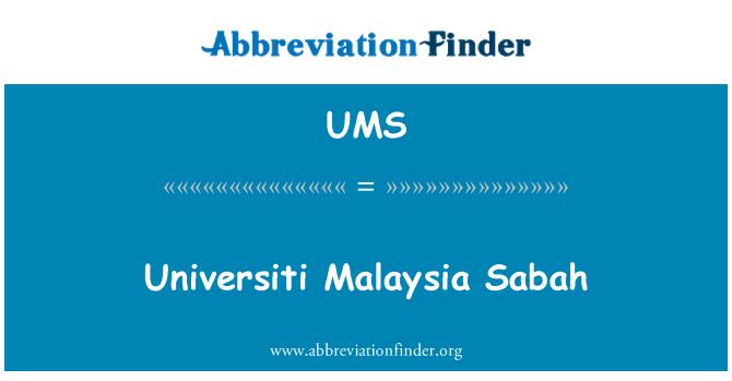 UMS: Universiti Malaysia Sabah