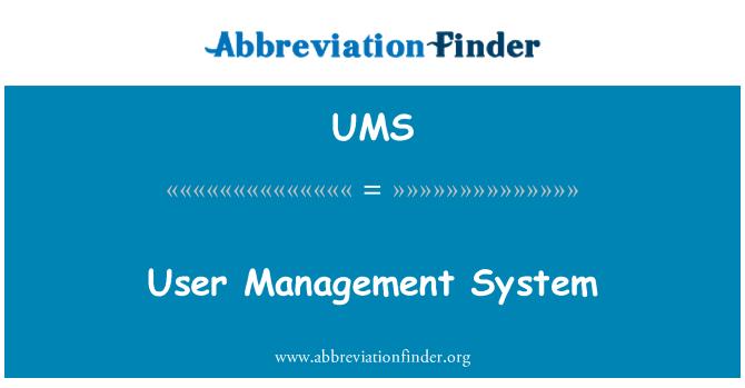 UMS: User Management System