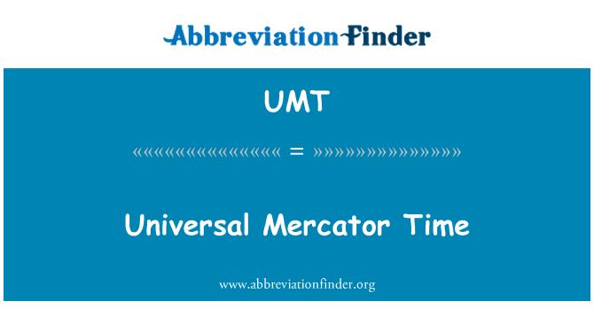 UMT: Universal Mercator Time