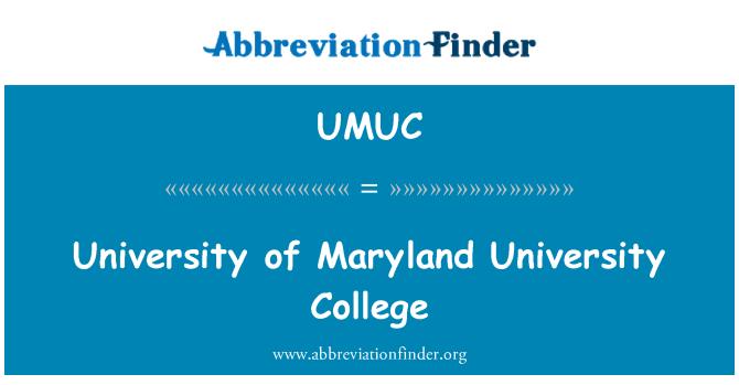 UMUC: University of Maryland University College