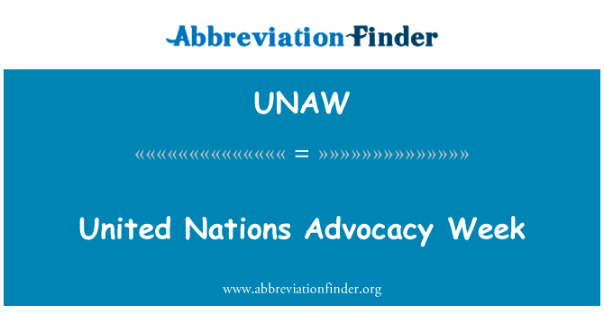 UNAW: United Nations Advocacy Week