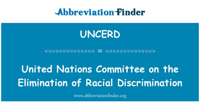 UNCERD: UN Odbor za ukidanje rasne diskriminacije